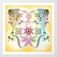bohemian Art Prints featuring Bohemian  by famenxt