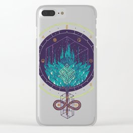 Fading Dahlia Clear iPhone Case