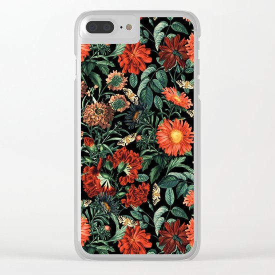 NIGHT FOREST XVIII Clear iPhone Case