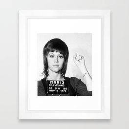 Jane Fonda Mug Shot Vertical Vintage Photo Framed Art Print