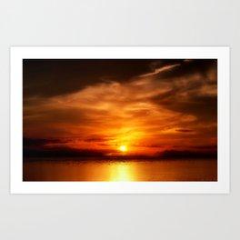 Eternal Sunset Art Print