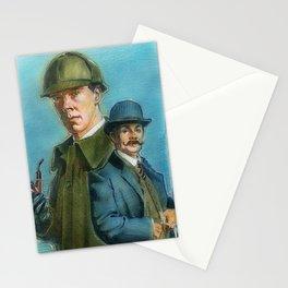Watson and Sherlock Stationery Cards