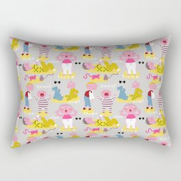 The angry fabric pattern Rectangular Pillow