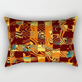 Geometric patchwork Rectangular Pillow