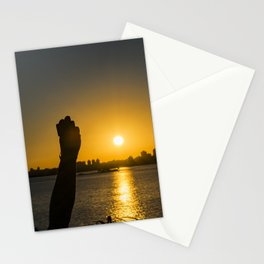 Sunset Cityscape Scene, Montevideo, Uruguay Stationery Cards