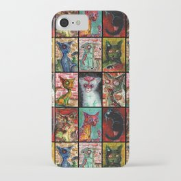 9 Zombie Cats version 2 iPhone Case