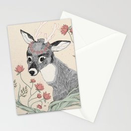 The deer from the forest Stationery Cards