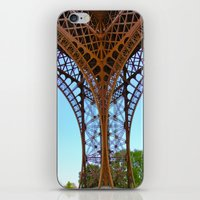 eiffel iPhone & iPod Skins featuring Eiffel by Camille Renee