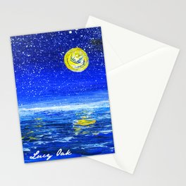 Ocean at Night Stationery Cards