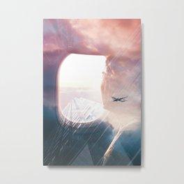 In the plane Metal Print