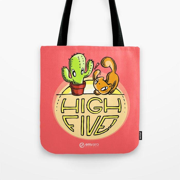 Scribbles & Prickles: High five Tote Bag