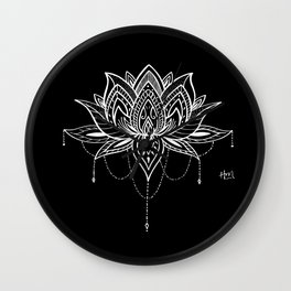 Lotus Love Wall Clock