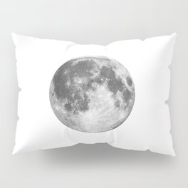 Full Moon phase print black-white monochrome new lunar eclipse poster home bedroom wall decor Pillow Sham