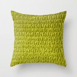 Yellow Bubble Row Textile Photo Art Throw Pillow