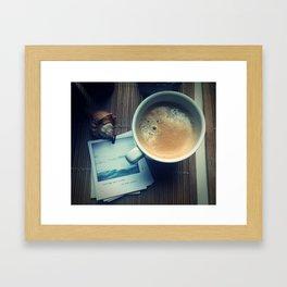 Coffee Departure Framed Art Print