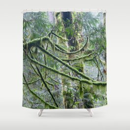 Mossy Branches Shower Curtain