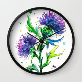 Thistle 2 Wall Clock