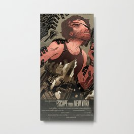 Escape From New York Poster Metal Print