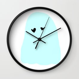 ghost in love Wall Clock