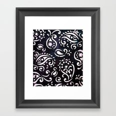 painted paisley Framed Art Print
