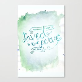 SAVED TO SERVE - COLOR Canvas Print