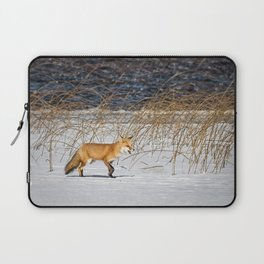 Red Tail Fox on Fish Hook Lake Laptop Sleeve