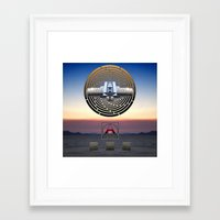 stargate Framed Art Prints featuring STARGATE: BRC by Adam Yasmin