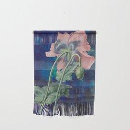 French Poppy - Vintage Botanical Illustration Collage Wall Hanging