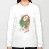 marley Long Sleeve T-shirts featuring Marley Bob by getzair