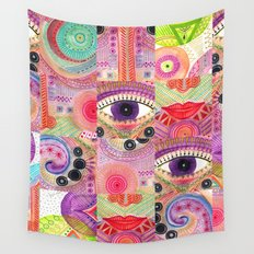 colorful words of a poem Wall Tapestry
