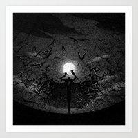 Drawlloween 2015: Vampire Art Print