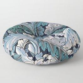 Art Nouveau William Morris Blue Acanthus Leaves Floor Pillow