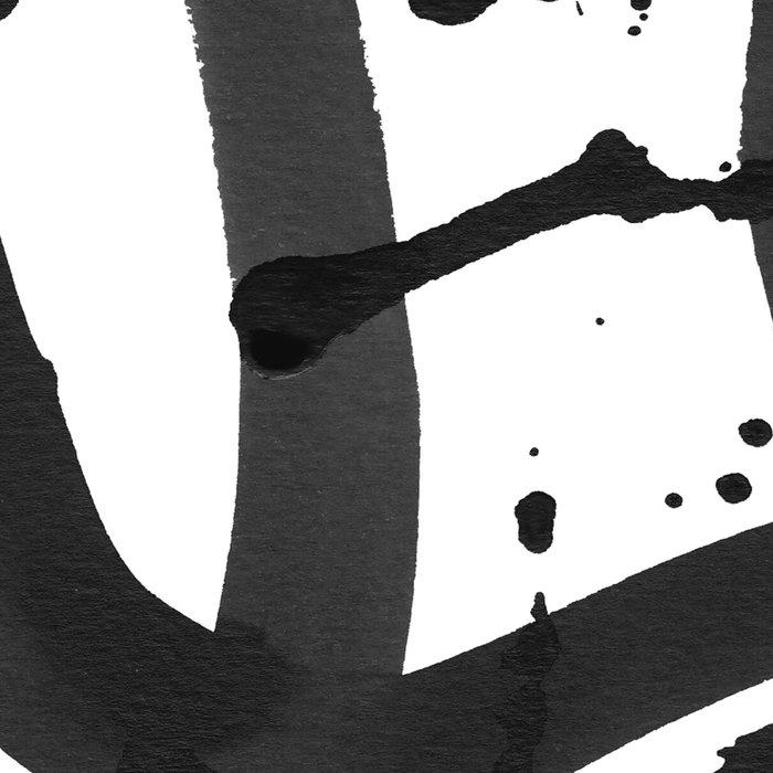 Black & White Abstract 1 Leggings