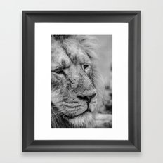 Face Of Thought Framed Art Print