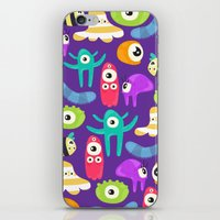 monsters iPhone & iPod Skins featuring monsters by Ceren Aksu Dikenci