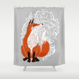 The Fox Says Shower Curtain