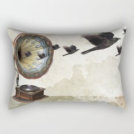 the sound of crows Rectangular Pillow