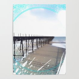 Victorian Pier - paint Poster