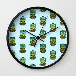Chibi Leonardo Ninja Turtle Wall Clock