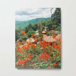 Thailand countryside flowers Metal Print