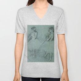 """Edgar Degas """"Two Dancers"""" Unisex V-Neck"""