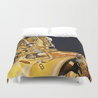 c3po Duvet Covers featuring C3PO by Laura-A