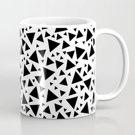 Memphis Milano style pattern with triangles, black and white triangle pattern print Coffee Mug