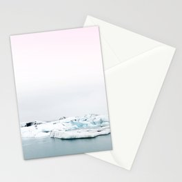 Beautiful glacier lagoon winter Stationery Cards