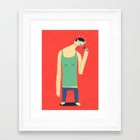 frank Framed Art Prints featuring Frank by murat kalkavan
