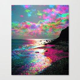 Trippy Serenity Ocean Canvas Print