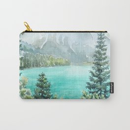 Emerald Lake Watercolor Carry-All Pouch