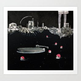 swimming01 Art Print