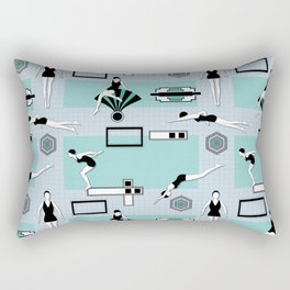 Art Deco Swimmers Rectangular Pillow