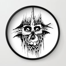 Skully Line Wall Clock